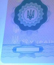 Диплом - свечение УФ (Лисичанск)